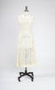 SOLD -- Rare 1920s Sheer Cotton Dress with Lace Deer Inserts & Hemstitched Stripes
