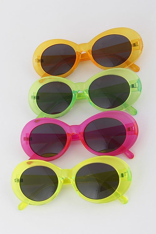 1960s Style Day-Glo Sunglasses (Available in 4 Colors)