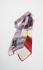 1940s Penny's Purple, Maroon and Yellow Hand Painted Duck Tie