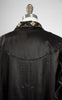 1900s Art Nouveau Black Silk Embroidered Opera Coat