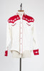 "Rockmount Ranch Wear Elvis ""Loving You"" Two-Tone Floral Embroidery Western Shirt"