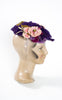 1930s Ko-San Straw Hat with Velvet Pansies & Bows