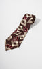 1930s Wilson Brothers Duratwill Brown, Burgundy, Ivory Diamond Tie