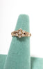 SOLD -- 1900s Edwardian 14k Gold & 0.5 cttw Old Mine Cut Diamonds Art Nouveau Ring