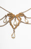 1900s Edwardian Gold Filled and Crystal Festoon Necklace