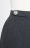 SOLD -- 1950s Gray Wool Pencil Skirt with Pleated Kick Pleat