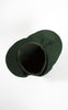 SOLD -- 1920s H.P. Wasson & Co Emerald Green Asymmetrical Wool Cloche