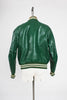 1960s Butwin Gluv Elf Green Leather Varsity Letterman Jacket