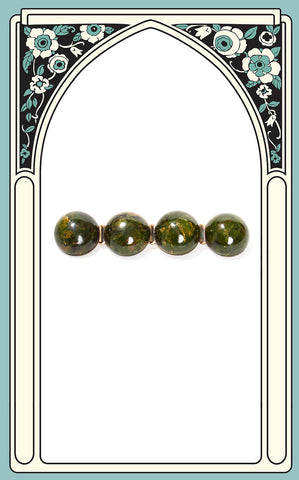 1930s Creamed Spinach Bakelite Bubble Brooch