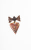 SOLD -- Very Unusual Early 1940s Prison Folk Art Sweetheart Brooch