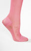 SOLD -- 1920s Vibrant Berry Pink Silk Stockings with Petite Cutouts and Netting Detail