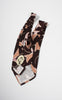 1940s Arrow Brown, Peach and Red Abstract Tie