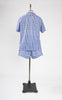 SOLD -- 1960s Jantzen Blue Gingham Cabana Set