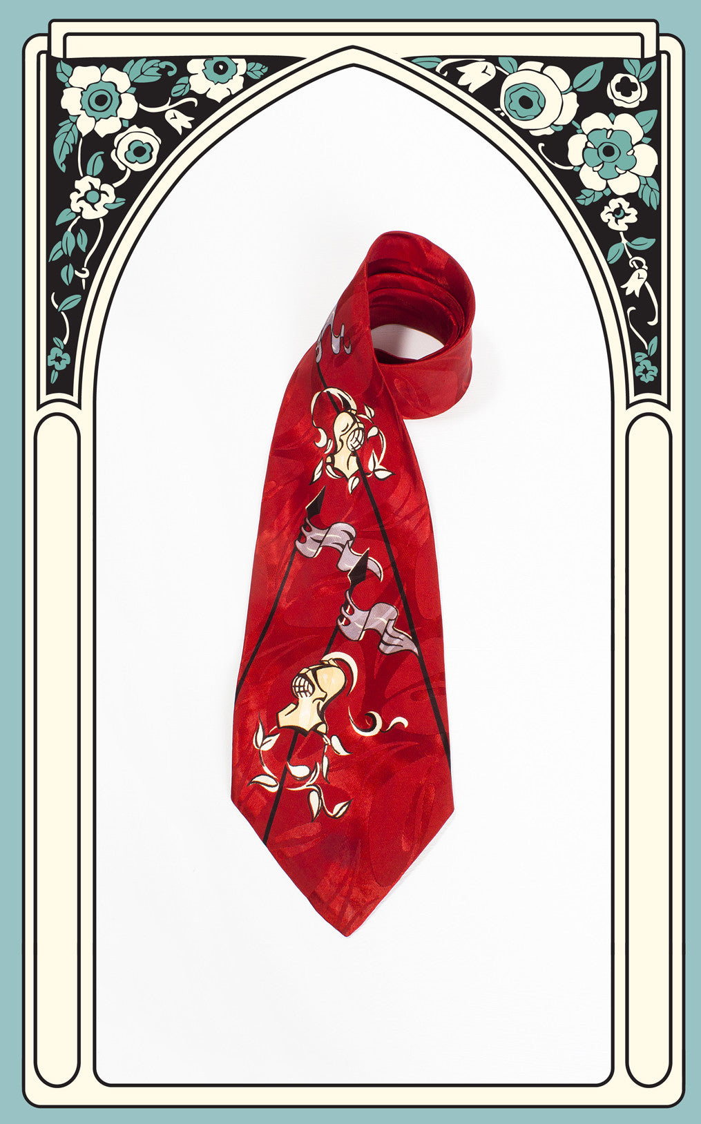 "1940s ""Tournament"" Knights Tie"