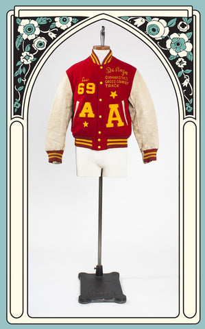 1969 De Anza High School Red Letterman Jacket