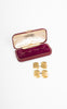 1950s James Walker 9k Gold Textured Cufflinks in Original Box