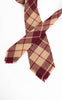 1950s Signet Plaid Fringed Wool Tie