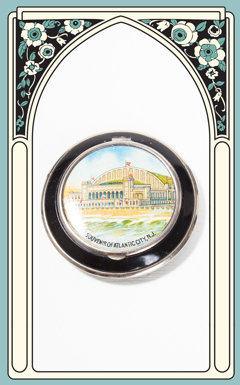 1940s Atlantic City Auditorium and Convention Hall Souvenir Compact