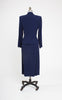SOLD -- 1950s Navy Linen Hourglass Peggy Carter Skirt Suit