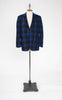 SOLD -- 1960s Sammy's Blue and Black Plaid Wool Blazer