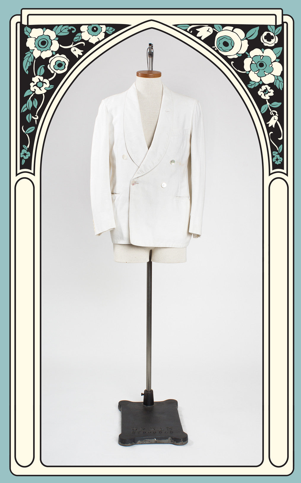 "SOLD -- 1930s Shawl Collar Double Breasted Palm Beach ""Carlton"" Dinner Jacket"