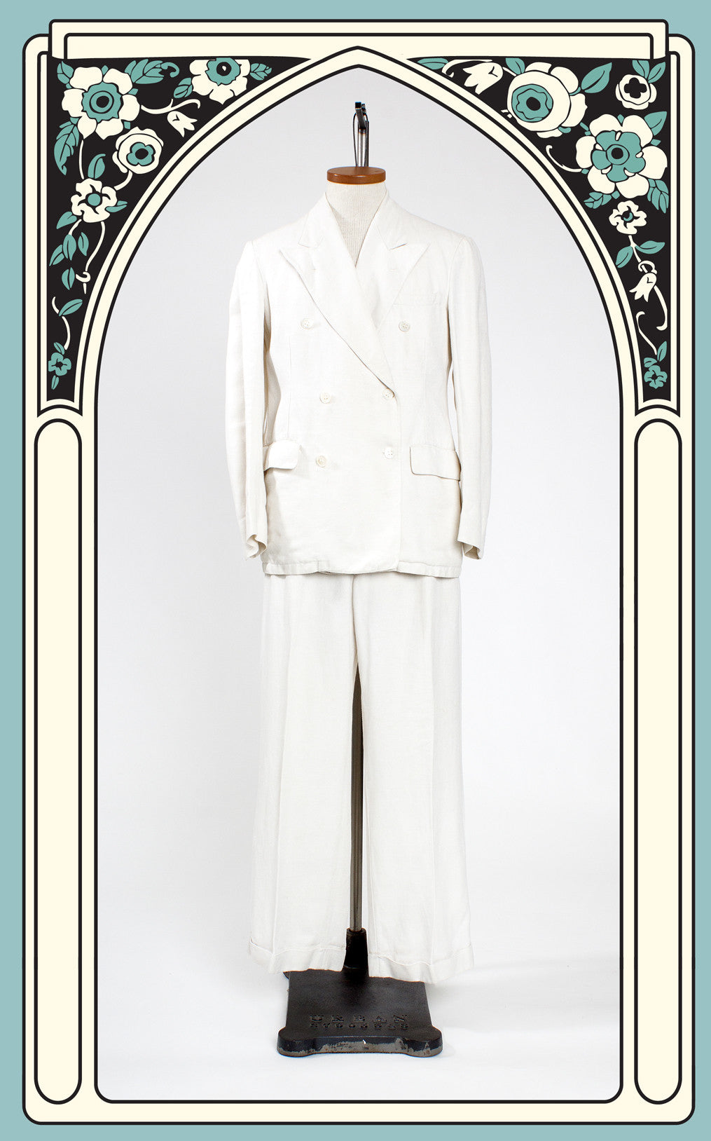 SOLD -- 1930s Bestfit Clothes Double Breasted Summer Suit