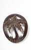 1930s Hand Carved Coconut Shell Palm Tree Brooch