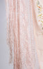 SOLD -- 1920s Hand Embroidered Pink Silk Piano Shawl