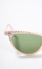 SOLD -- 1950s Grantly Pink Rhinestoned Cat Eye Sunglasses