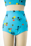 1950s Style Poodle Party 2 Piece Swimsuit (Plus Sizes Available)