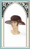 1900s Edwardian Gimbel Brothers Chantilly Lace and Wire Frame Hat