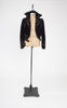 1800s Victorian Silk Velvet Cropped Jacket with Soutache and Steel Cut Beadwork