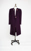 SOLD -- 1940s Art Deco Plum Purple Boucle Chevron Coat