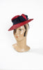 1930s Sadye Chertak Red Straw Tilt Hat