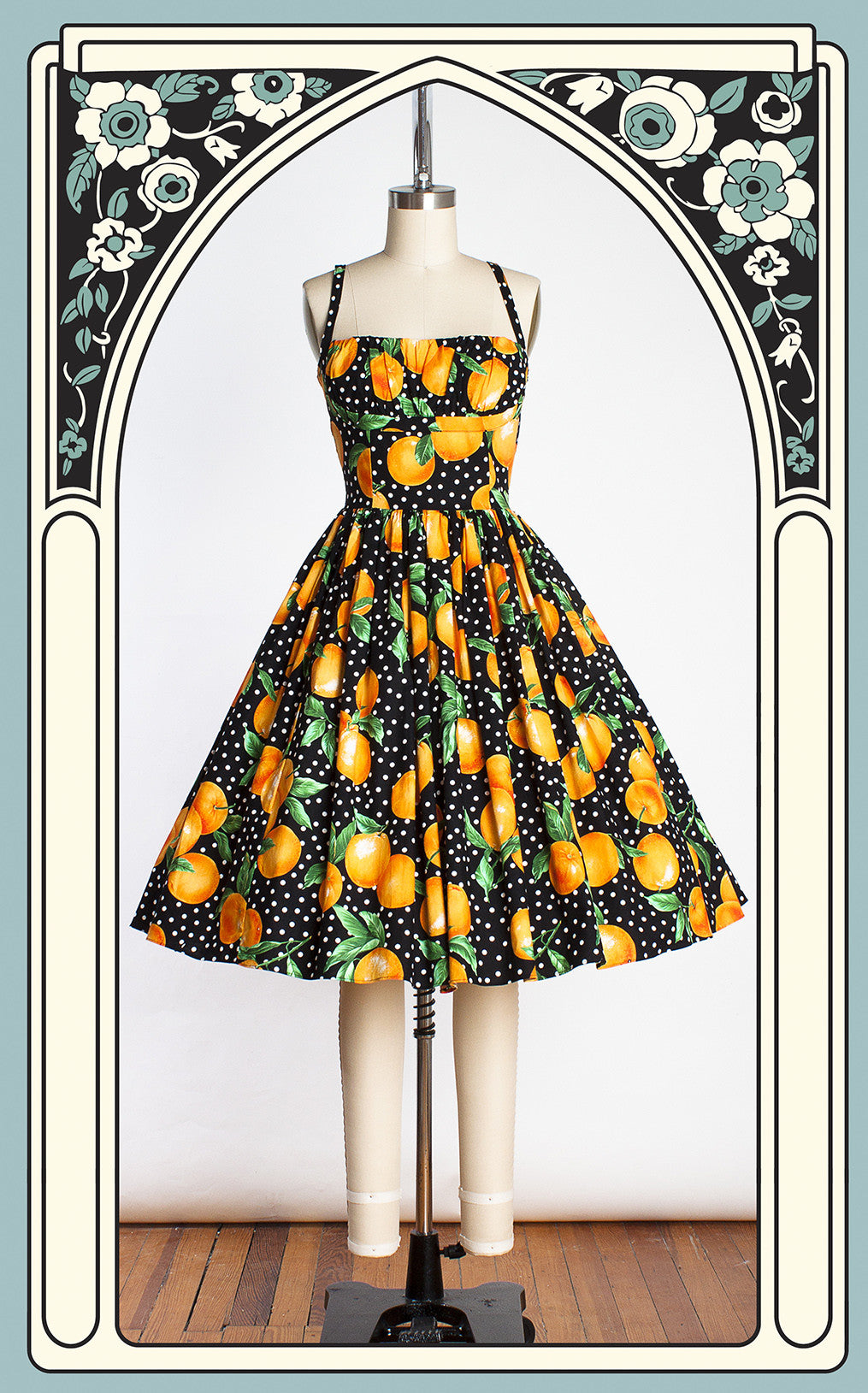 Bernie Dexter Paris Dress in Juicy Oranges