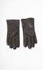 Ladies Reproduction Chocolate Brown 6-Button Cashmere Lined Leather Gloves