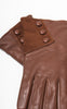 Ladies Reproduction Brown 3-Button Leather Gloves