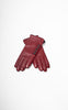 Ladies Reproduction Red 5-Button Cashmere Lined Leather Gloves