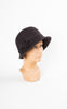 1920s Style Wool Cloche with Bow in Chocolate
