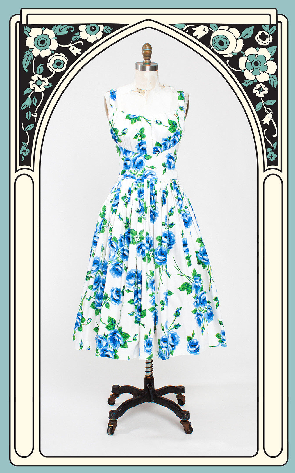 LAST ONE -- Retrospec'd Norma Jean Dress in Porcelain Rose - Size 2