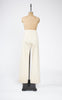 SOLD -- 1930s Winter White Wool Flat Front Cuffed Trousers