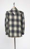 1950s Men's Salem Sportswear Fitted Western Jacket in Grey Shadow Plaid