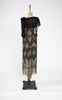 SOLD -- 1920s Rare Art Deco Silk and Metallic Lace Geometric Print Dress