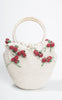SOLD -- 1950s Ritter Straw Handbag With Darling Red Berries