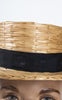 Early 1900s French Wicker Boater