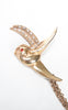 1940s Rhinestoned Swallows Chain Brooch
