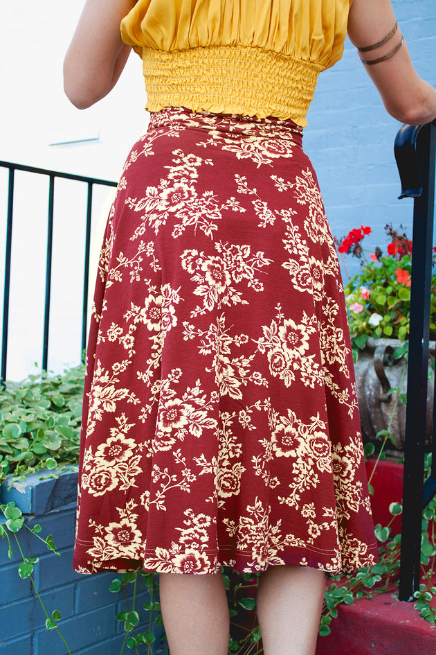 Effie's Heart Holiday Floral Picnic Skirt