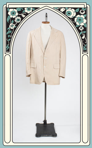 SOLD -- 1960s Haspel Camel Gingham Cotton Jacket