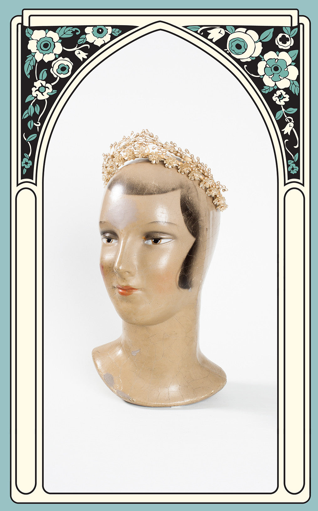 1930s Wax Flower Bridal Tiara