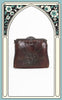 SOLD -- 1910s Spanish Craft Art Nouveau Tooled Leather Handbag